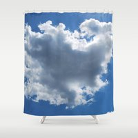 cloud Shower Curtains featuring Cloud by Sarah Shanely Photography