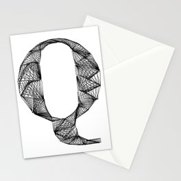 ''City Collection'' - Minimal Letter Q Print Stationery Cards