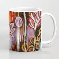 new year Mugs featuring New Year by kristenheinlein