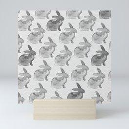 Watercolor Bunnies 1N by Kathy Morton Stanion Mini Art Print