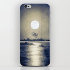When the moon speaks (part III) colour option iPhone Skin