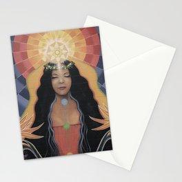 Lightworker // Goddess Woman Feminine Spirit Wemoon Energy Healing Chakra Pele Meditation Stationery Cards