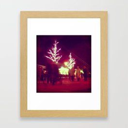Pink trees Framed Art Print