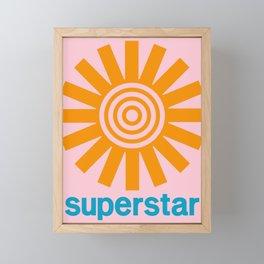 Superstar Framed Mini Art Print