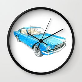65 Mustang Fastback Wall Clock