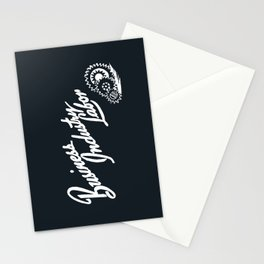 Business Industry Labor in White with Gears Stationery Cards