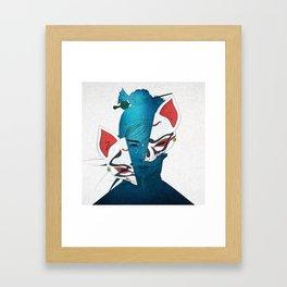 Fox Mask Framed Art Print