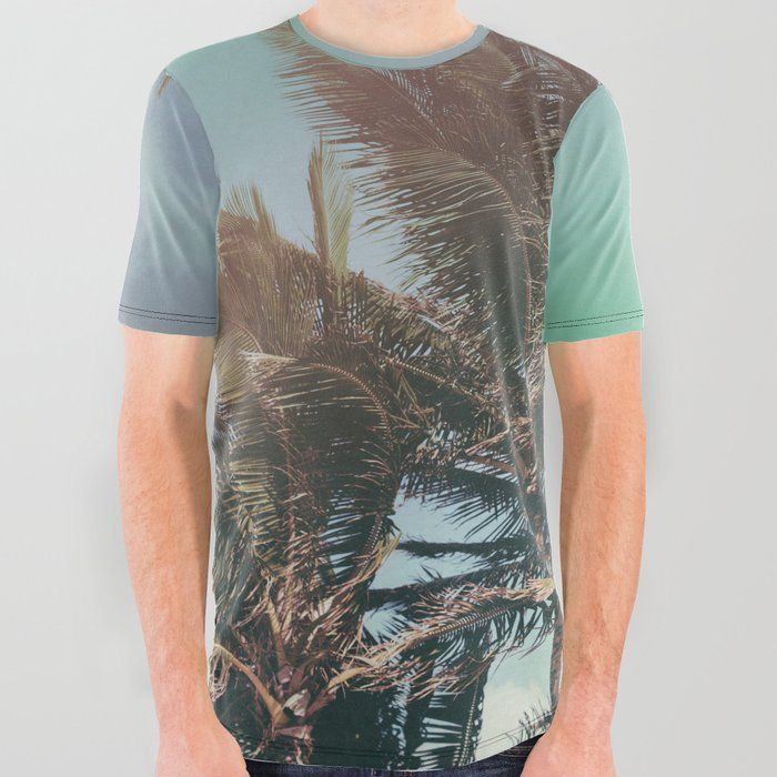 8d1d00f1b9 Vintage Palm Hawaii Summer Daze All Over Graphic Tee by floresimagespdx