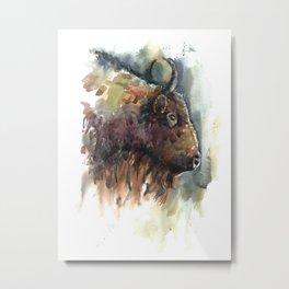 Bison. Metal Print