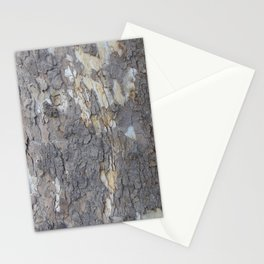 brown sycamore bark Stationery Cards