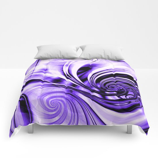 Curls Deluxe Purple Comforters