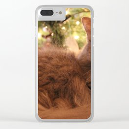 Christmas Cat Clear iPhone Case