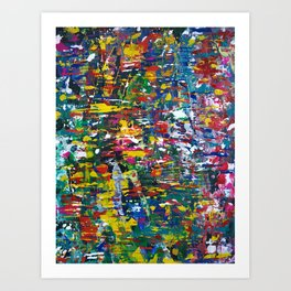 Abstract colored painting 22 Art Print