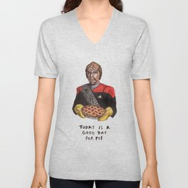 Worf - Today Is A Good Day for Pie Unisex V-Neck