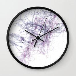 Threaded fibres Wall Clock