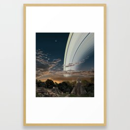 If the Earth had Rings: the View from Guatamala Framed Art Print