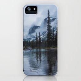 Fairy Tale Landscape Maligne Lake Alberta Canada iPhone Case