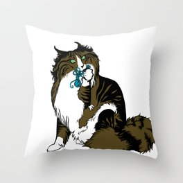 Cats&Yarn - Norwegian or Maine Coon Throw Pillow