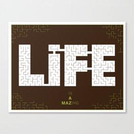 Life's a maze Canvas Print
