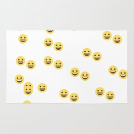 A bunch of smiley faces Rug