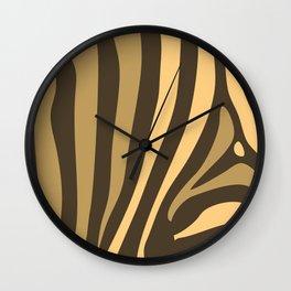 Brown Zebra Stripes Wall Clock