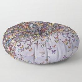 butterfly cascade Floor Pillow