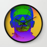 frank Wall Clocks featuring Frank  by Nikki Hung