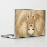 the lion king Laptop & iPad Skins featuring king lion by Ewa Pacia