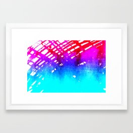 Performing color Framed Art Print