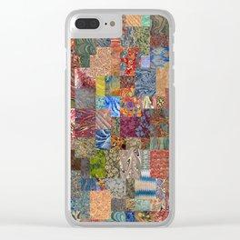 Turkish Marbled Paper Art (Ebru) Clear iPhone Case
