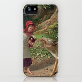 Little Red Riding Hood and the wolf iPhone Case