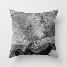 Skull - Close Up Profile Throw Pillow