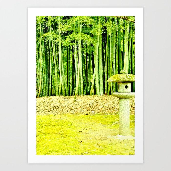 """Bamboo Scene"" Art Print"