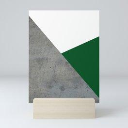 Concrete Festive Green White Mini Art Print
