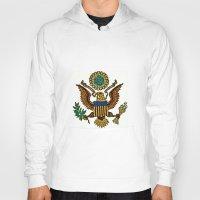 patriotic Hoodies featuring Patriotic Eagle by manderjack