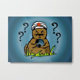 The Mystical Groundhog Metal Print