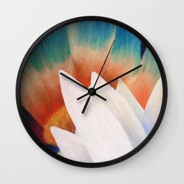 Juxtaposed Flowers Wall Clock