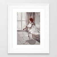 ballerina Framed Art Prints featuring Ballerina by Monika Gross