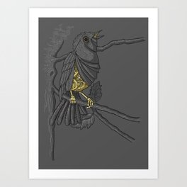 Mechanical bird Art Print