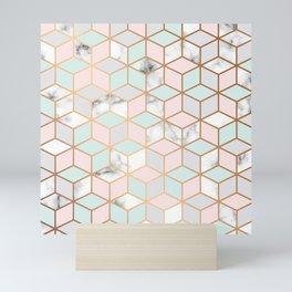 Marble & Geometry 051 Mini Art Print