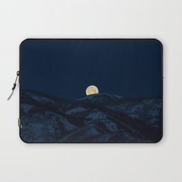Moonset on the Wasatch Back Laptop Sleeve