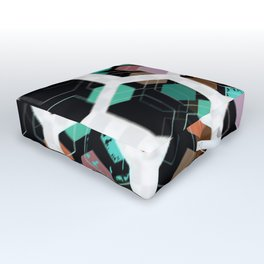 Hex Dive Pattern Outdoor Floor Cushion