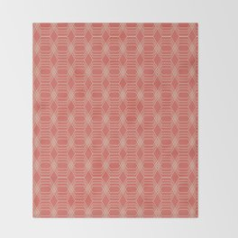 hopscotch-hex melon Throw Blanket