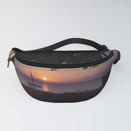 Sunset with Boat Fanny Pack