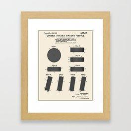 Hockey Puck Patent Framed Art Print
