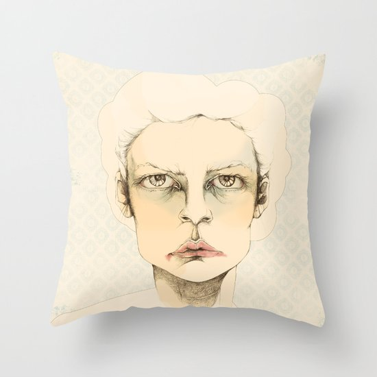 """portrait of anybody"" Throw Pillow"