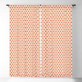 Pop Art Dot Pattern 247 Orange Blackout Curtain