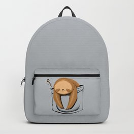 Sloth in a Pocket Backpack