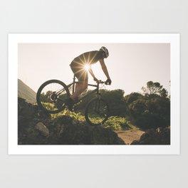 Man in the bike Art Print