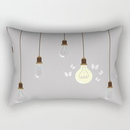 Light Bulbs Rectangular Pillow